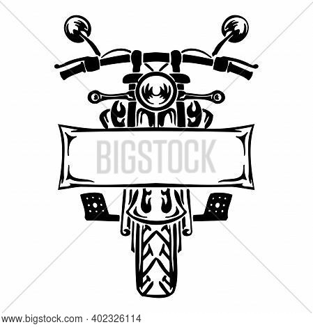 Motorcycle Logo Template - Vector Sign Bike Motor, Motorbike Automotive Rider, Clipart Vector Cut Fi