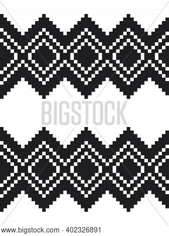 Black And White Argyle Seamless Pattern Background
