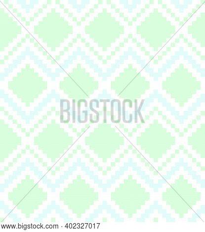Mint Argyle Seamless Pattern Background