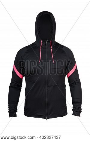 Men's Sport Track Suit, With Hood. Hoodie. Sport Clothing, Isolated On White