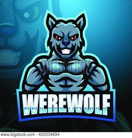 Vector Illustration Of Werewolf Mascot Esport Logo Design