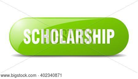 Scholarship Button. Scholarship Sign. Key. Push Button.