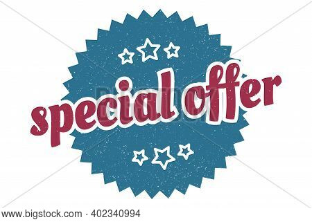 Special Offer Sign. Special Offer Round Vintage Retro Label. Special Offer