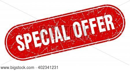 Special Offer Sign. Special Offer Grunge Red Stamp. Label