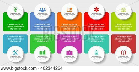 Infographic Vector Template For Presentation, Chart, Diagram, Graph, Business Concept With 10 Option