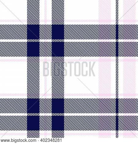 Pink Navy, Asymmetric Plaid Textured Seamless Pattern