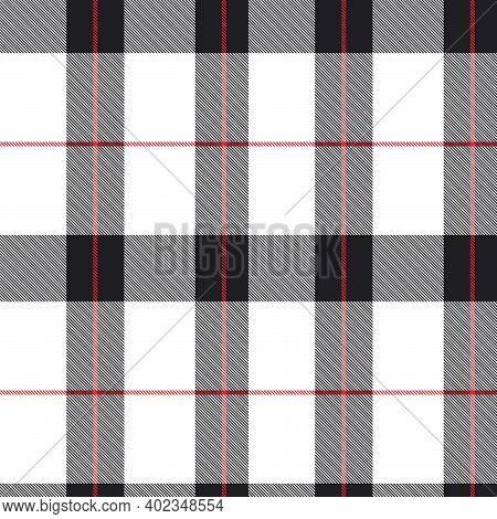 Red Asymmetric Plaid Textured Seamless Pattern