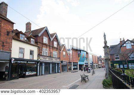 Shops On Bartholomew Street In Newbury, West Berkshire In The Uk, Taken On The 19th November 2020