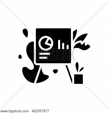 Biohilic Office Design Glyph Icon. Workers Health Focused Workspace Filled Flat Sign. Office Gardeni