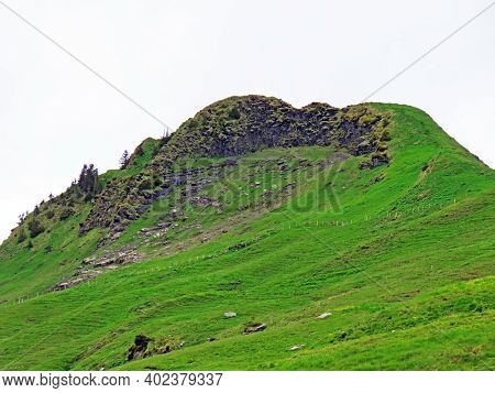 Alpine Mountain Hill Gross Stärnen (gross Staernen Or Gross Starnen) Over The Iberig Region And In T