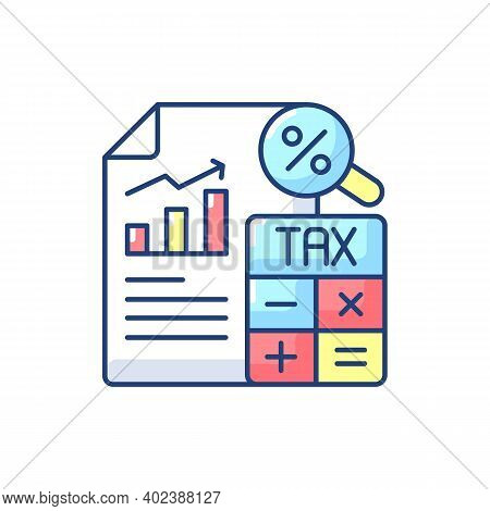 Tax Accounting Rgb Color Icon. Accounting Methods Focused On Taxes. Analysis And Presentation Of Tax