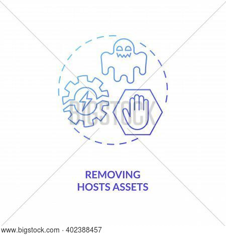 Removing Hosts Assets Concept Icon. Asset Management Benefit Idea Thin Line Illustration. Sold, Lost