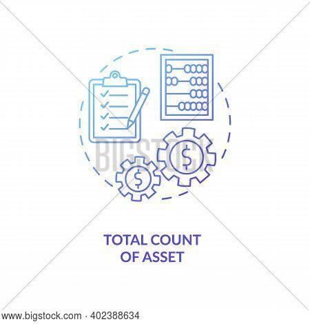 Total Asset Count Concept Icon. Assets Inventory Element Idea Thin Line Illustration. Cash And Cash