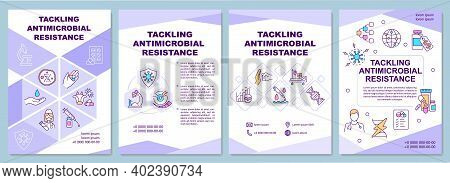 Tackling Antimicrobial Resistance Brochure Template. Infection Control. Flyer, Booklet, Leaflet Prin