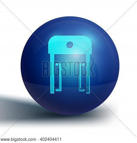 Blue Metal Detector In Airport Icon Isolated On White Background. Airport Security Guard On Metal De