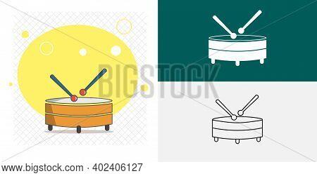 Drum Isolated Vector Icon. Music Design Element
