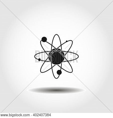 Atom Isolated Vector Icon. Atom Design Element