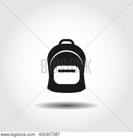 Rucksack. Knapsack. Schoolbag. Sack Isolated Vector Icon. Backpack Design Element