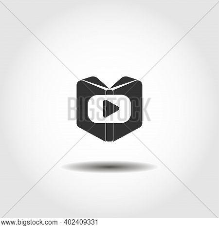 Video Tutorial Vector Icon. Tutorial Design Element