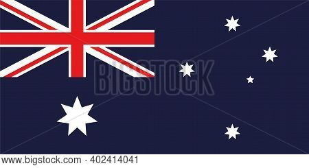 The National Flag Of The Country Is Australia. Australian Flag. State Symbol. Australia Day. Defende
