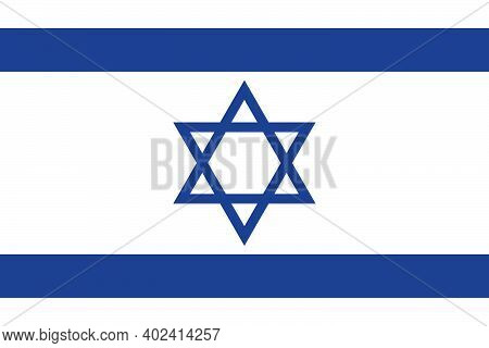 State Flag Of The Country Of Israel. Israeli Flag. Star Of David. State Symbol. Israel Independence