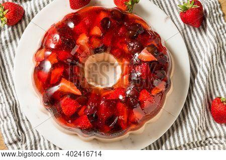 Homemade Layered Berry Gelatin Mold