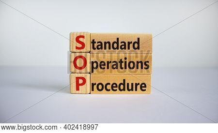 Sop - Standard Operations Procedure Symbol. Concept Word 'sop - Standard Operations Procedure' On Cu