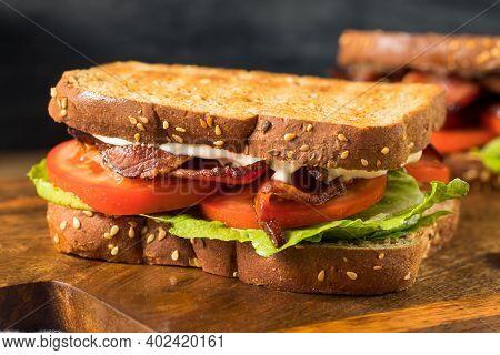 Homemade Bacon Blt Sandwich