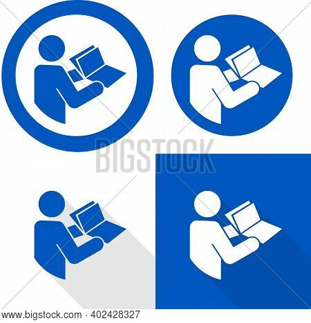 Manual Book Symbol. Read Before Use. Refer To Instruction Manual Booklet Mandatory Sign