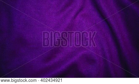 Purple Crumpled Fabric, Fabric Texture, Fabric, Purple Silk Background.