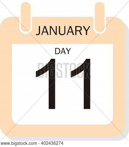 Calendar Design For January 11, 2021, 2021 Calendar Week Starts On Sunday. Printable 2021 Yearly Cal