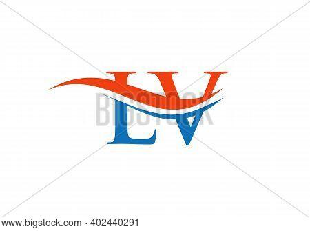 Lv Letter Type Logo Design Vector Template. Abstract Letter Lv Logo Design With Modern Trendy