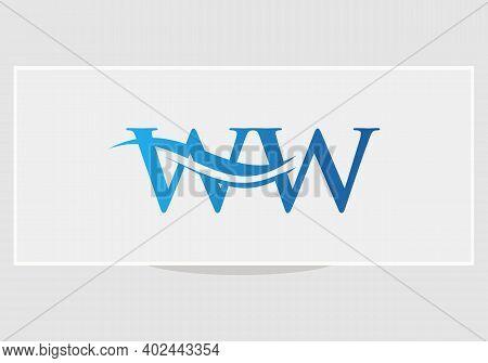 Monogram Letter Ww Logo Design Vector. Ww Letter Logo Design With Modern Trendy