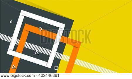 Abstract Modern Futuristic Graphic Background. Yellow Background With Stripes. Minimalistic Geometri