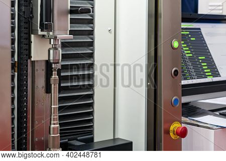 Automobile Part During Setup On Rotate Chuck Of High Technology And Precision Measuring Machine For