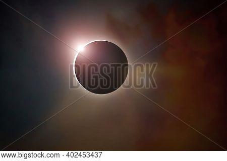 Amazing Sun Ring Phenomenon: Total Solar Eclipse