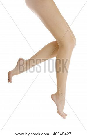 Legs Of A Young Girl