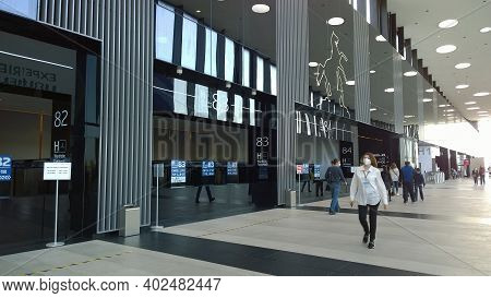 St. Petersburg, Russia - September 26, 2020: New Expo And Convention Centre. Business Venue For Inte
