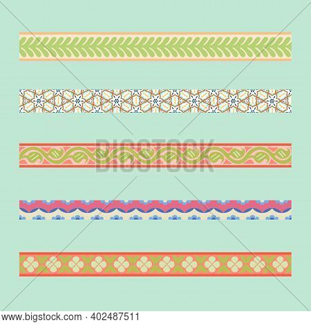 Persian Traditional Ornament. Borders With Floral Ornament. Ancient Traditions. Vector.