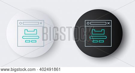 Line Browser Window Icon Isolated On Grey Background. Colorful Outline Concept. Vector