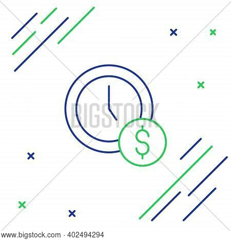 Line Time Is Money Icon Isolated On White Background. Money Is Time. Effective Time Management. Conv