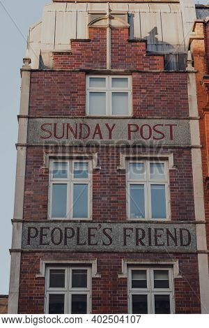 London, Uk - November 19, 2020: Exterior Of Former Offices Of Sunday Post Peoples Friend, A British
