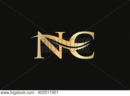 Initial Letter Nc Linked Logo For Business And Company Identity. Modern Letter Nc Logo Vector Templa