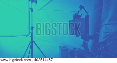 Video Production And Studio Set Up For Movie Shooting.