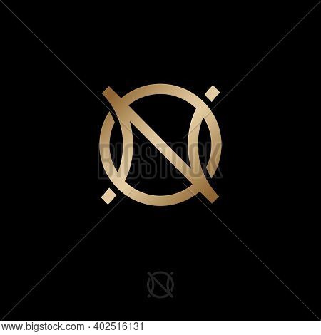 N And O Gold Monogram. Abstract, Luxury Logo. Logo Can Be Used For Business, Jewelry Shop, Clothes,