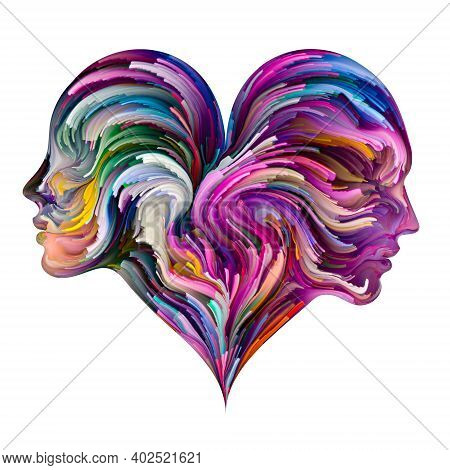 Colorful Heart Abstraction.