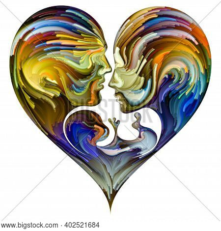 Painted Heart Abstraction.