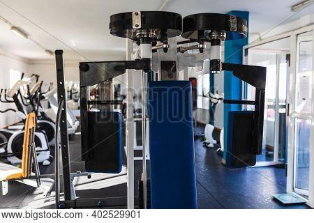 Gym Machine. Gym Concept. Sport. Pectoral. Biceps