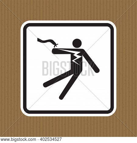 Electrical Shock Electrocution Symbol Sign Isolate On White Background,vector Illustration Eps.10
