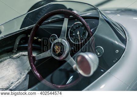 Stuttgart, Germany 6 March 2020: The Porsche 718/2 (2-02) Formula 2 1960. This Successful 718 /2 Win